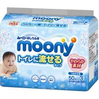 Moony baby wipes flushable toilet type 50*3
